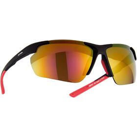 Alpina Defey HR Occhiali, nero/rosso
